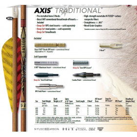 Tube AXIS TRADITIONNAL de EASTON