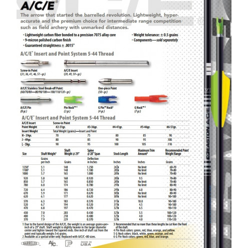Tube ACE de EASTON