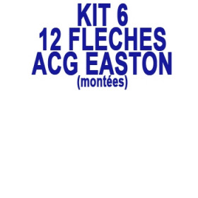 Kit 12 Flèches ACG EASTON