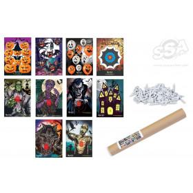 Lot 10 blasons Halloween EGERTEC