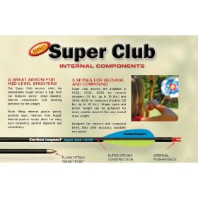 Flèches SUPER CLUB de CARBON IMPACT
